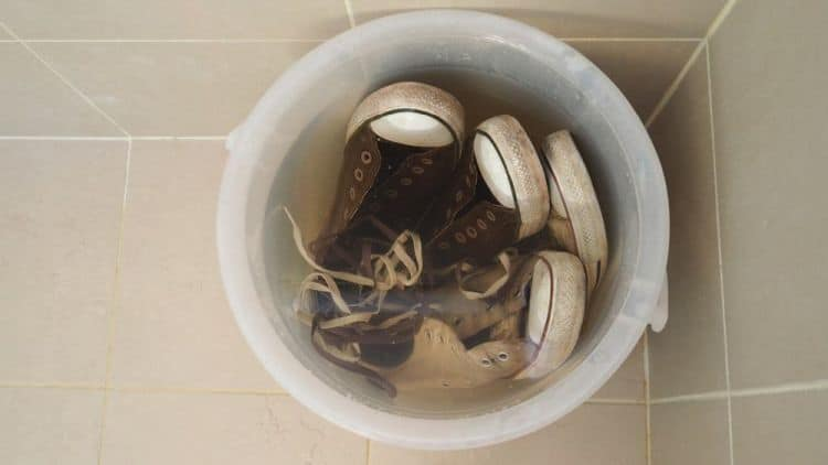 Soak your shoes
