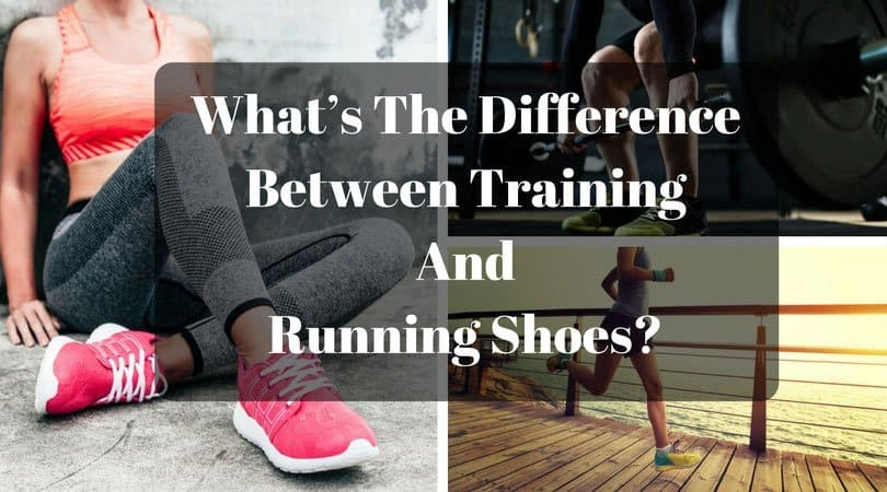 difference between training and running shoes