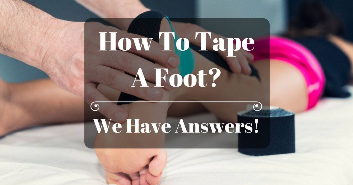 how to tape a foot