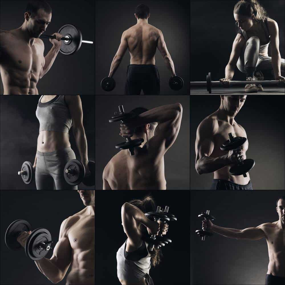 Collage of different bodybuilders images